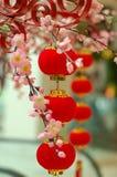 3 röda traditionella för kineslykta Arkivbilder