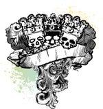 3 re Banner del cranio Fotografia Stock