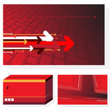 3 red abstract backgrounds. With place for your text Stock Images