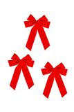 3 red bows Stock Photo