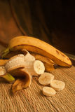 3 ripe bananas Stock Images