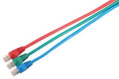3 rj45 barwiących włącznika sznura łaty set Fotografia Stock