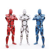 3 robots Photo stock