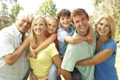 3 rodzin pokolenia park Zdjęcia Royalty Free