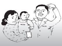 3 rodziny Zdjęcie Stock