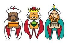 3 rois portant des cadeaux Photos libres de droits