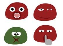 3 roliga emoticons Royaltyfri Bild