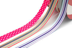 3 Rolls of Ribbons Royalty Free Stock Images