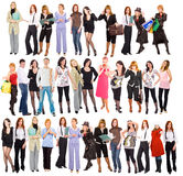3 rows of people Stock Photography