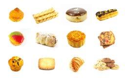3 séries cuites au four de marchandises Image libre de droits