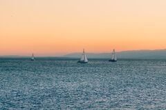 3 Sailboats on Water during Daytime Royalty Free Stock Photos