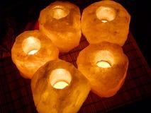 3 salt lampor Royaltyfri Fotografi