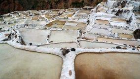 3 salt pannor Arkivbild