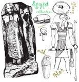 3 samling egypt royaltyfri illustrationer