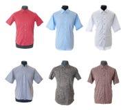 3 samling isolerad male skjorta Arkivbilder
