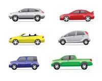 3 samochodów ikon część Ilustracji