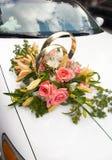 3 samochodów na ślub Obraz Stock