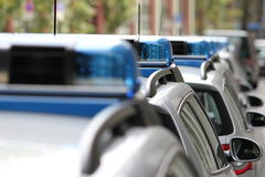 3 samochodów niemiec policja Fotografia Royalty Free