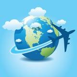 3 samolotowa podróż Fotografia Royalty Free