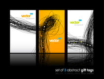 3 separate gift cards. Stock Image