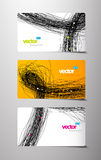 3 separate gift cards. Vector art Stock Photos