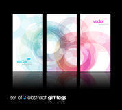 3 separate gift cards with circles. Vector art Royalty Free Stock Photos