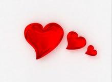 3 serce Obrazy Stock