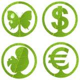 3 set tecken för eco Fotografering för Bildbyråer