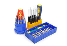 3 sets of screw-drivers Royalty Free Stock Images