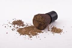 Free 3 Shades Of Mica Powder Cosmetics And Brush Stock Image - 13005221