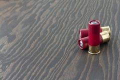 3 shelles de escopeta Foto de archivo libre de regalías