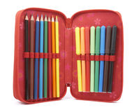 3 skrzynka ołówek Obrazy Royalty Free