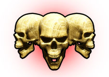 3 Skullz Photo stock