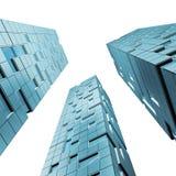3 skyskrapor stock illustrationer