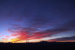 3 Smoke Stacks @ Sunrise, Page, Arizona Stock Photos