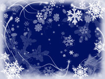 3 snowflakes Arkivbilder