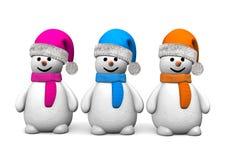 Free 3 Snowmen Stock Photos - 65070883