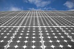 3 sol- paneler Fotografering för Bildbyråer