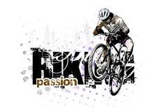 3 som cyklar Fotografering för Bildbyråer