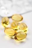 3 sortimentomega pills Fotografering för Bildbyråer