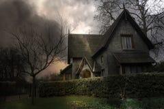 3 spökat hus Royaltyfri Bild