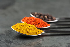 Free 3 Spices Royalty Free Stock Image - 27707646