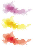 3 splatter color set. Create by vector Stock Images