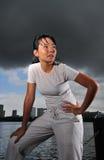 3 sports women Fotografering för Bildbyråer