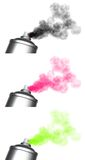 3 spraying spray can graffiti Royalty Free Stock Photography