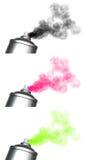 3 spraying spray can graffiti. Render of 3 spraying  spray can grafitti Royalty Free Stock Photography
