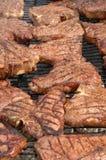 3 steaks Arkivfoton