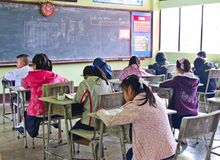 3 stopień krajowy uczni test Zdjęcie Stock