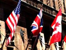 3 stora flaggor Arkivbilder