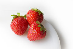 3 Strawberries Royalty Free Stock Image